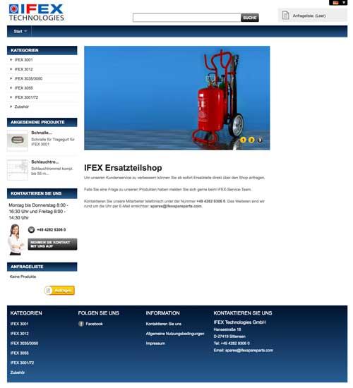 IFEX Shop Screenshot